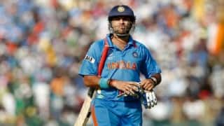 Jolt for India, Yuvraj Singh out with ankle injury