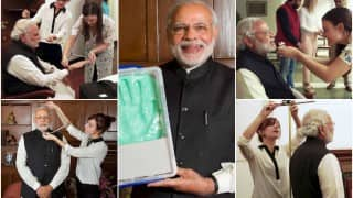 Watch Narendra Modi being measured for Madame Tussauds wax statue