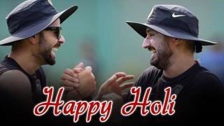 Virat Kohli, Haharbhajan Singh celebrate Holi with team after India vs Bangladesh T20 World Cup 2016 victory