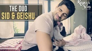 Sidharth Malhotra loves 'Kapoor & Sons' DOG than Alia Bhatt and its super adorable! Watch video