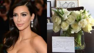 Kim thanks Emily Ratajkowski with flowers
