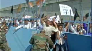 Congress protests outside Pathankot Air Base against Pakistan JIT team