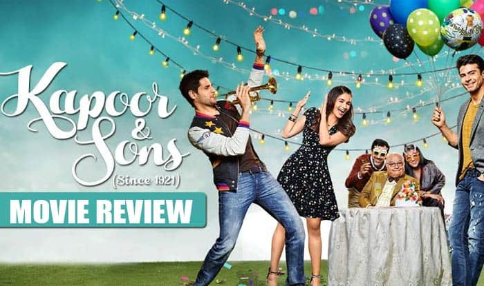 Kapoor & Sons movie review: Rishi Kapoor's comic timing will cheer you up in the heart-warming family drama!