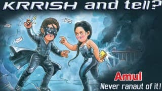 Amul takes a jibe at Hrithik Roshan-Kangana Ranaut controversy in latest witty ad!