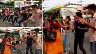 Shocking! Angry woman slaps girl to stop Payyanur flash mob in Kerala (Watch video)