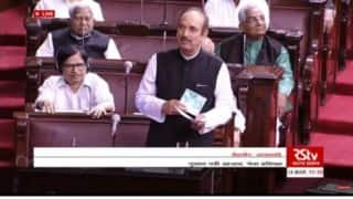 Uproar in Rajya Sabha over Ghulam Nabi Azad's RSS-ISIS remark; BJP demands apology