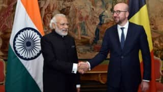 Narendra Modi pitches for pact with Belgium to combat terrorism