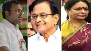 P Chidambaram, wife Nalini and son Karti — All three find themselves in dock