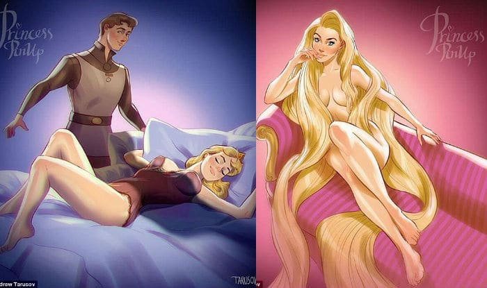 Disney Princess remagined as racy models1