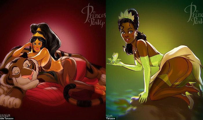 Disney Princess remagined as racy models123