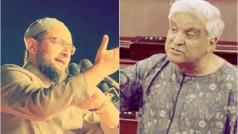 Bharat Mata Ki Jai row: Where Javed Akhtar lost plot in slamming Asaduddin Owaisi