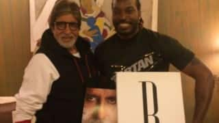 THIS is how Chris Gayle reacted to question about meeting with Amitabh Bachchan! (Watch Video)