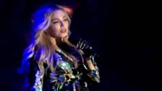 Madonna gets emotional over son during performance
