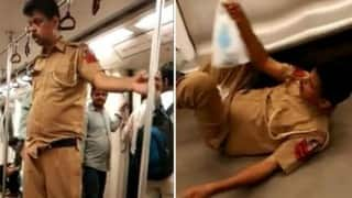 The drunk policeman on Delhi metro had actually suffered a stroke!