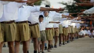 RSS ditches Khaki shorts, sewaks to wear full brown trousers