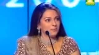 Major Throwback! Juhi Chawla singing Shah Rukh Khan's Kal Ho Naa Ho title track goes viral