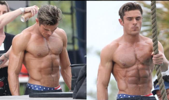 Image result for baywatch zac efron body