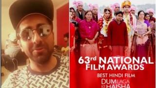 Ayushmann Khurrana shares his rendition of Moh Moh Ke Dhage, after Dum Laga Ke Haisha wins Best Film 2016 at 63rd National Film Awards