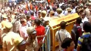 Bengaluru: Class 12 question paper leak for the third time; students, parents protest