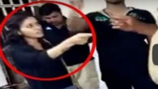 Watch: Drunk girl creates ruckus at police station in Hyderabad, threatens cops