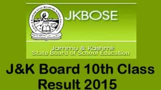 JKBOSE class 10 annual results 2015 declared on official website jkbose.co.in: Steps to check JKBOSE class X annual private 2015 Kashmir division results using your roll no.