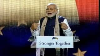Narendra Modi in Brussels: PM addresses Indian diaspora, says his govt is the only pro-poor regime since Independence