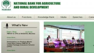 NABARD Recruitment 2016: How to apply for 115 managerial posts