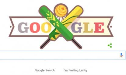 Google Doodle dedicated to Pakistan vs Australia ICC T20 cricket world cup match 2016 as both teams fight for semifinal spot