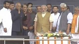 Narendra Modi visit's Bihar first time after assembly defeat, inaugurates Digha-Sonepur rail-cum-road bridge