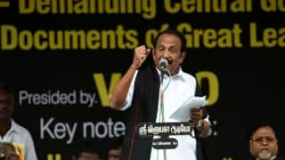 Angered by question, Vaiko walks out of a TV interview