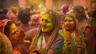 Colours fill the air as India celebrates Holi today