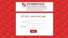 SET Law Admit Card 2016 released on set-test.org by Symbiosis International University: Steps to download Symbiosis Entrance Test law hall ticket online