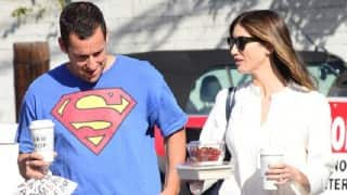 Adam Sandler shares PDA with wife Jackie