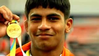 India at CWG 2018: Wrestler Rahul Aware Wins Gold Medal in Men's Freestyle 57 kg Category