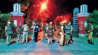 Students clash in Aligarh Muslim University, burn proctor office; 1 killed in police firing