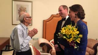 A Royal Fan: Kate Middleton & Prince William meet 93-year-old Britannia restaurant owner Boman Kohinoor