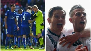 EPL 2015-16 roundup: Leicester City hold on to top spot; Tottenham Hotspur thrash Manchester United