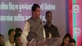 Will have to say 'Bharat Mata Ki Jai', if you want to live in India, says Devendra Fadnavis (Watch Video)