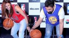 Neha Dhupia and Rannvijay Singh look stylish at the launch of NBA.com!