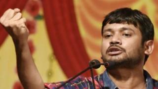 कन्हैया कुमार के सभा में दिखाया गया काला झंडा, युवक की समर्थकों ने की पिटाई