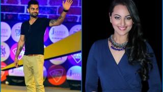 Virat Kohli sizzles with stylish dance moves alongside Sonakshi Sinha during Rohit Sharma's sangeet