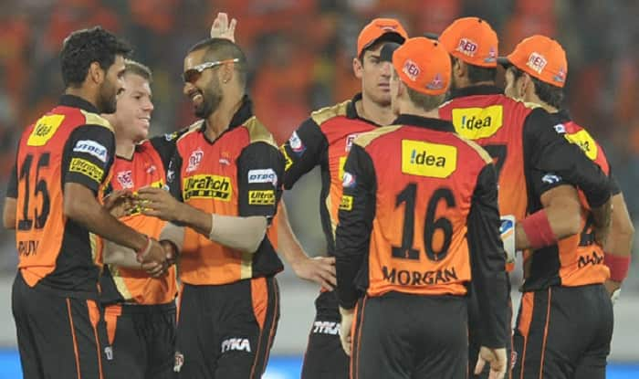 Sunrisers Hyderabad celebrate the wicket | BCCI Image