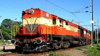 Goods train derails after being hit by engine, guard injured