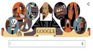 Google Doodle honours William Shakespeare on his 400th death anniversary