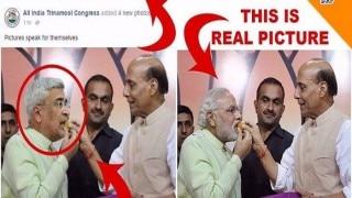 West Bengal Elections: Mamata Banerjee's TMC faces flak for sharing photoshopped image of Rajnath Singh & Narendra Modi
