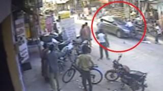 Man dragged atop a car bonnet for half-a-km in Gurgaon!