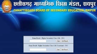 CGBSE 12th Results declared: Chhattisgarh girls outshine boys in Class XII exam