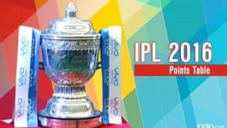 IPL 2016 Points Table & Team Standings: Here is the updated IPL 9 points table with net run rate