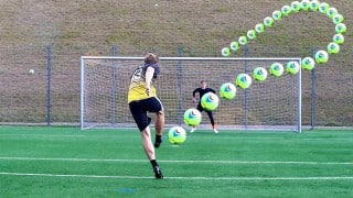Insane Helium filled football challenge free kicks & saves video is going viral! Watch video