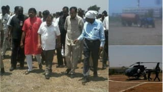 Latur water crisis: BJP Minister Eknath Khadse accused of wasting 10 thousand litres of water to build helipad